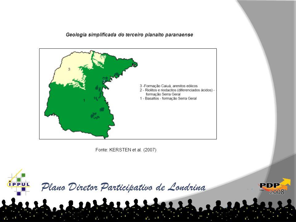 Geologia simplificada do terceiro planalto paranaense