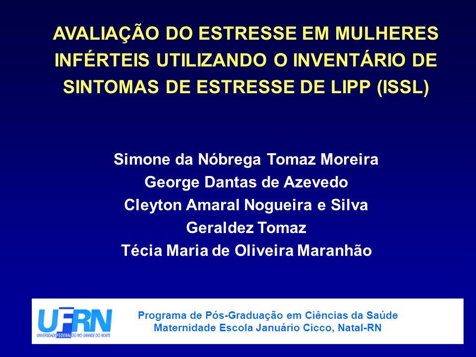 AVALIAÇÃO DO ESTRESSE EM MULHERES INFÉRTEIS UTILIZANDO O INVENTÁRIO DE SINTOMAS DE ESTRESSE DE LIPP (ISSL)