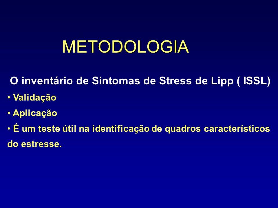 METODOLOGIA O inventário de Sintomas de Stress de Lipp ( ISSL)