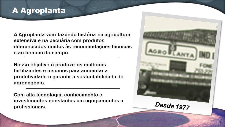 A Agroplanta Desde 1977.