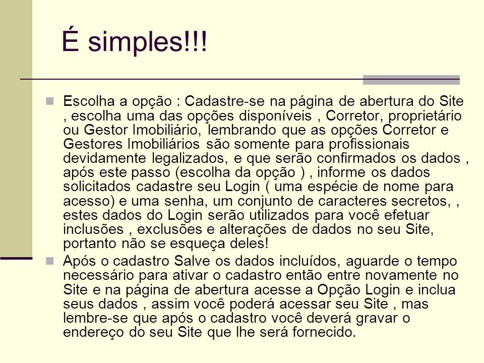 É simples!!!