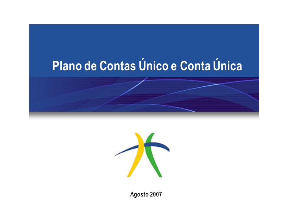 Plano de Contas Único e Conta Única