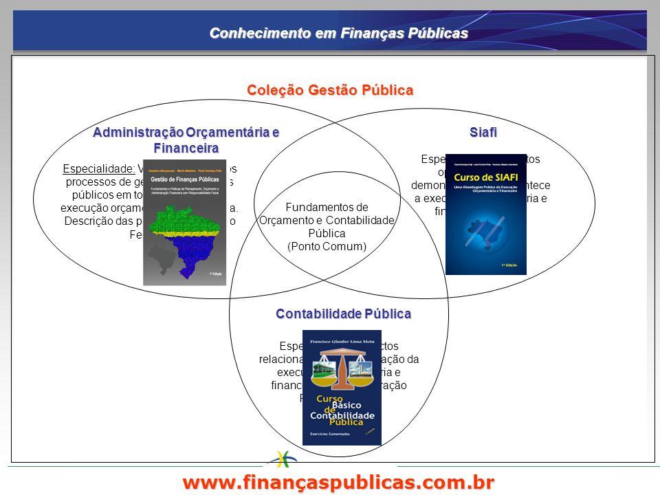 www.finançaspublicas.com.br Conhecimento em Finanças Públicas