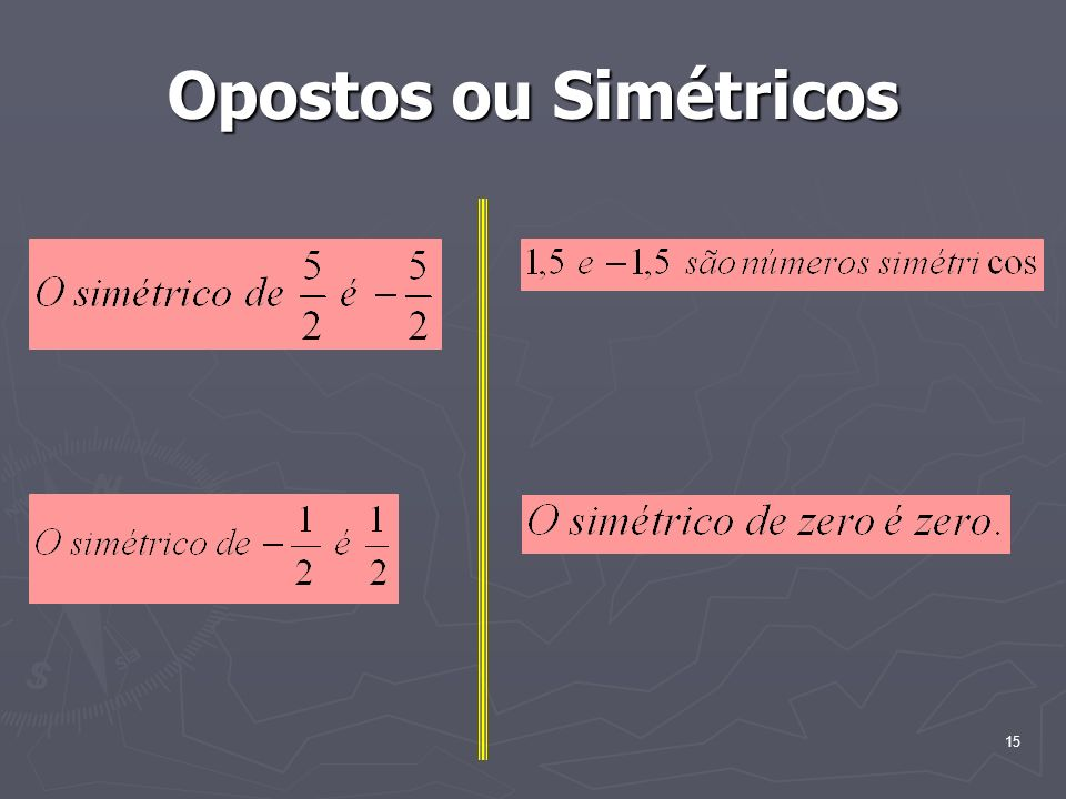 Opostos ou Simétricos