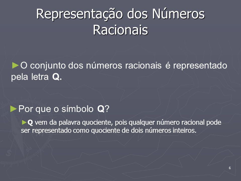 Representação dos Números Racionais