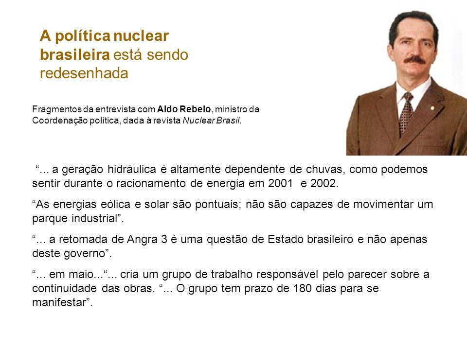 A política nuclear brasileira está sendo redesenhada