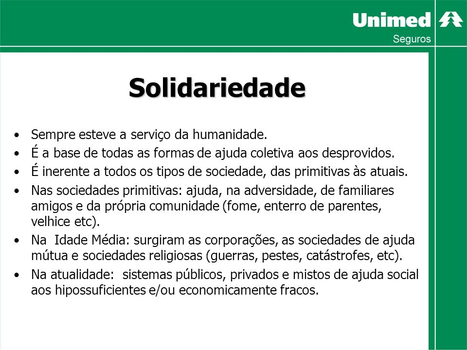 Solidariedade Sempre esteve a serviço da humanidade.