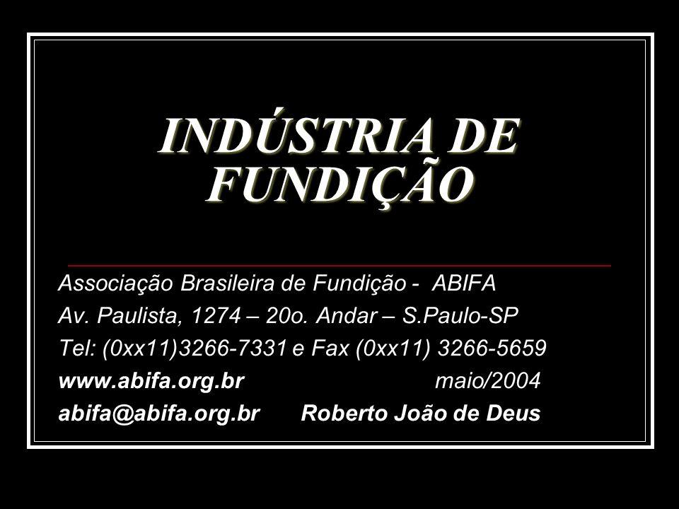INDÚSTRIA DE FUNDIÇÃO Associação Brasileira de Fundição - ABIFA