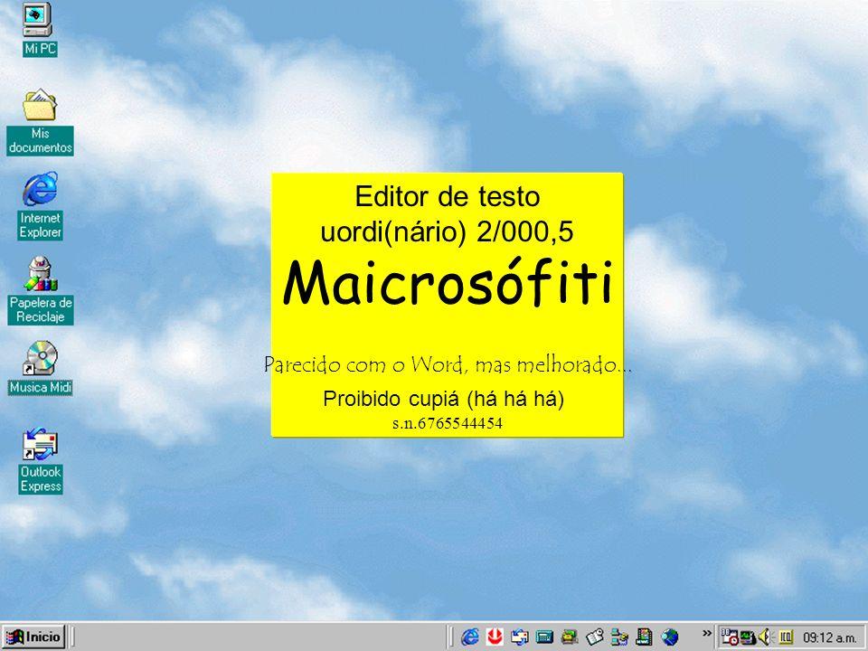 Maicrosófiti Editor de testo uordi(nário) 2/000,5