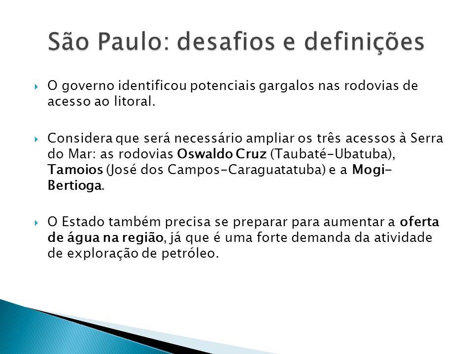São Paulo: desafios e definições