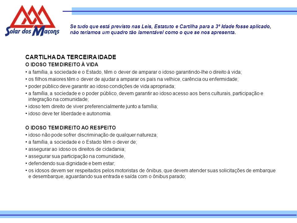 CARTILHA DA TERCEIRA IDADE