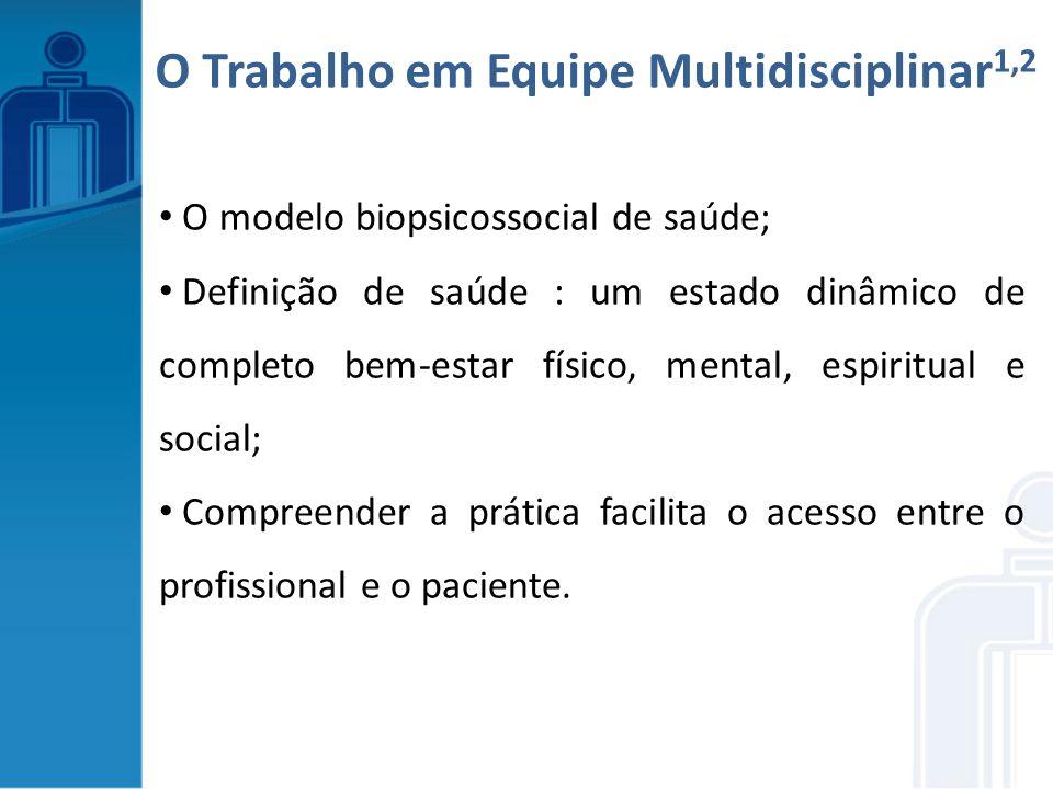 O Trabalho em Equipe Multidisciplinar1,2