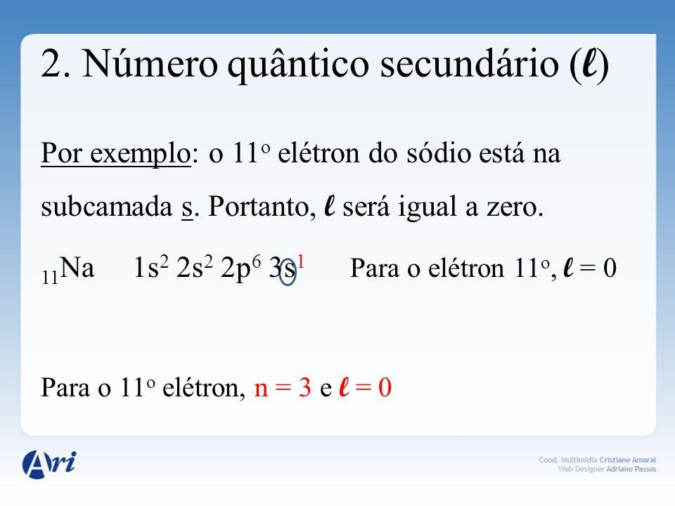 2. Número quântico secundário (l)
