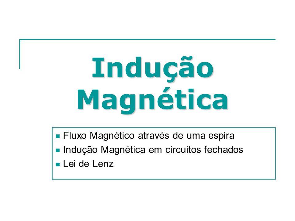 Indução Magnética Fluxo Magnético através de uma espira