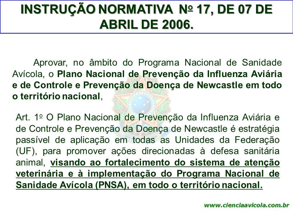INSTRUÇÃO NORMATIVA No 17, DE 07 DE ABRIL DE 2006.