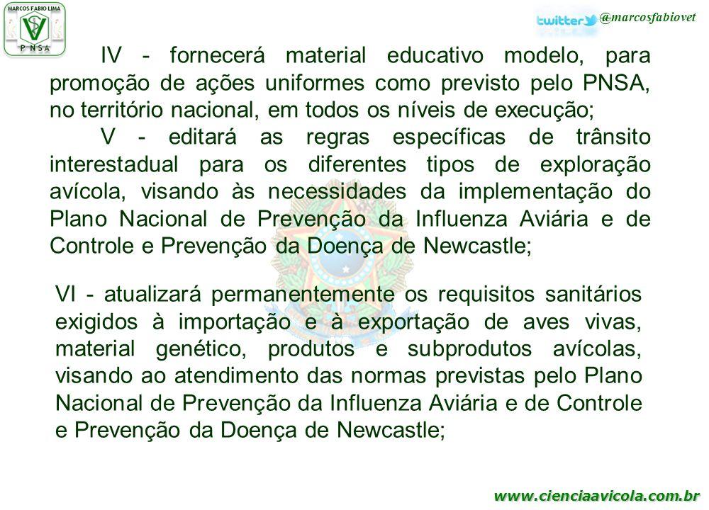 IV - fornecerá material educativo modelo, para promoção de ações uniformes como previsto pelo PNSA, no território nacional, em todos os níveis de execução;