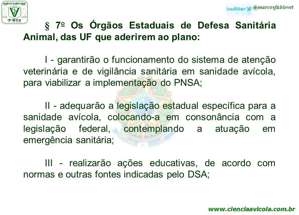 § 7o Os Órgãos Estaduais de Defesa Sanitária Animal, das UF que aderirem ao plano: