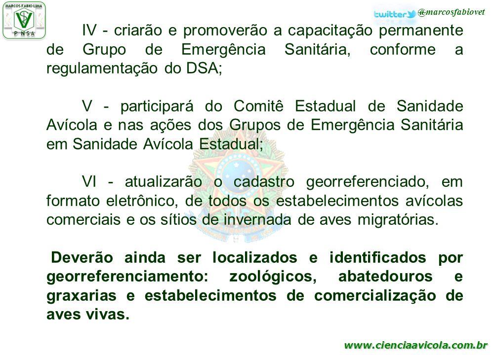 IV - criarão e promoverão a capacitação permanente de Grupo de Emergência Sanitária, conforme a regulamentação do DSA;