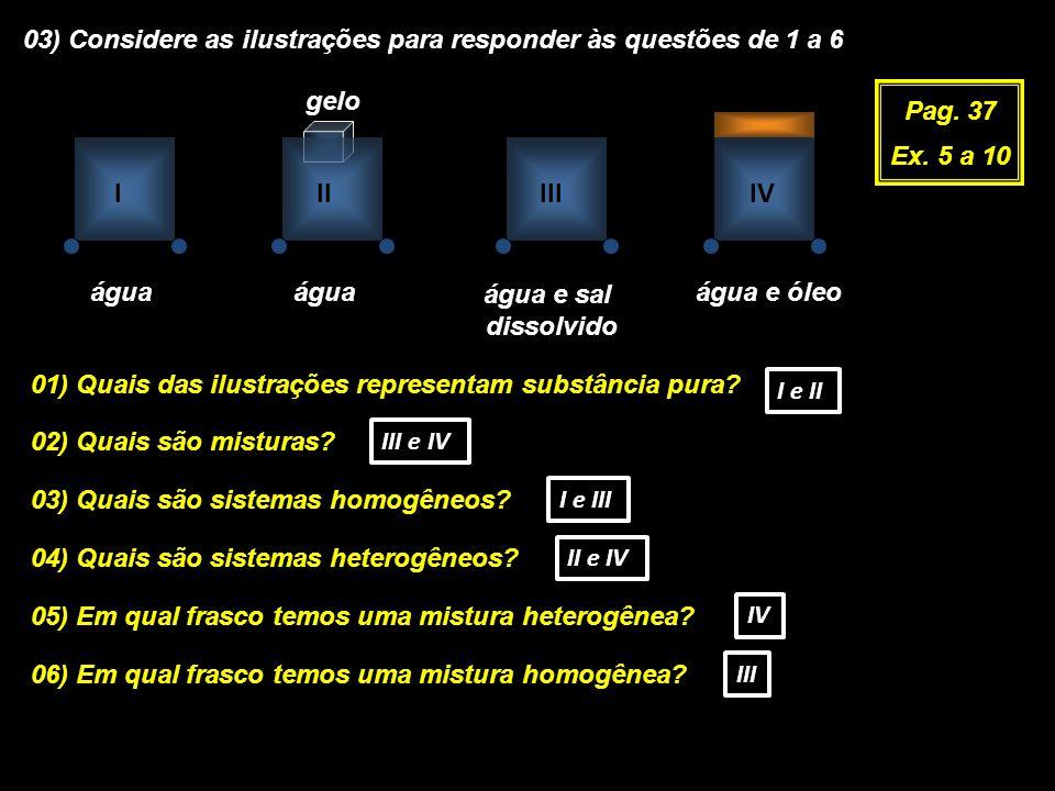 03) Considere as ilustrações para responder às questões de 1 a 6