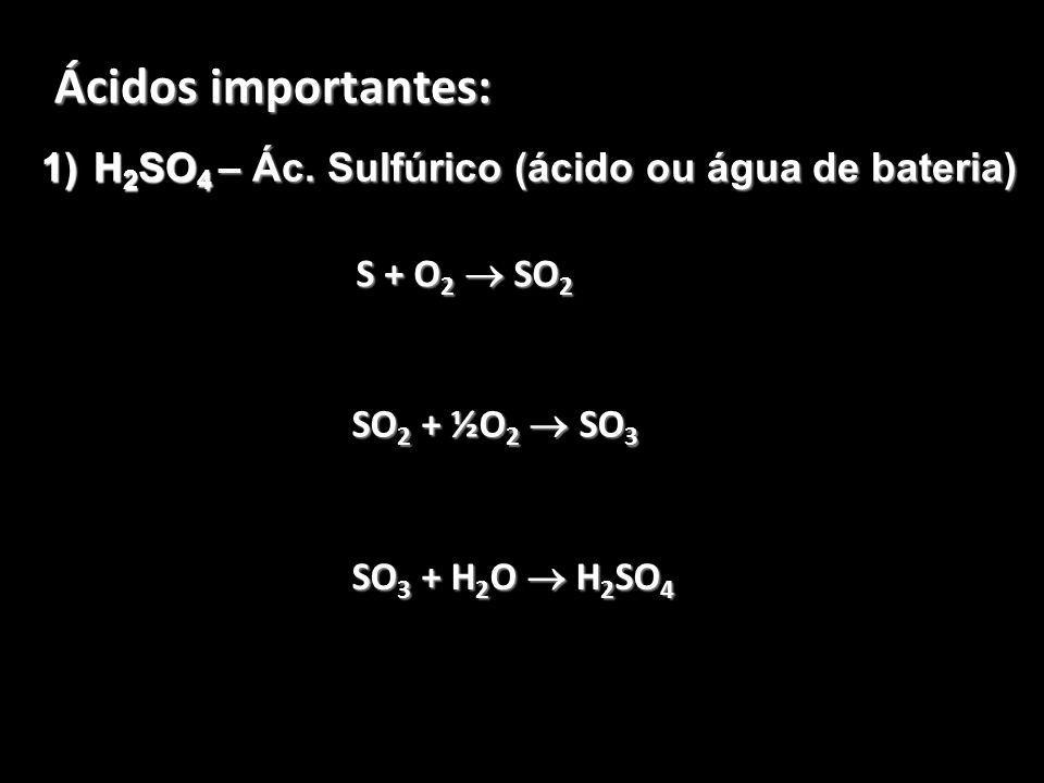 H2SO4 – Ác. Sulfúrico (ácido ou água de bateria)