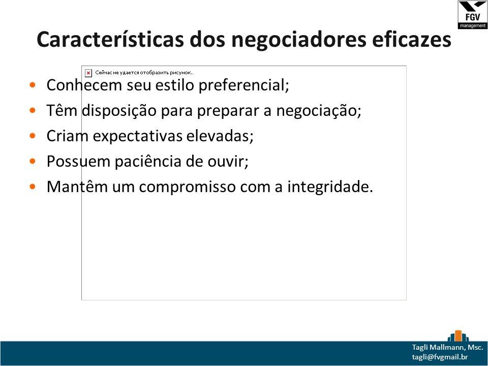 Características dos negociadores eficazes