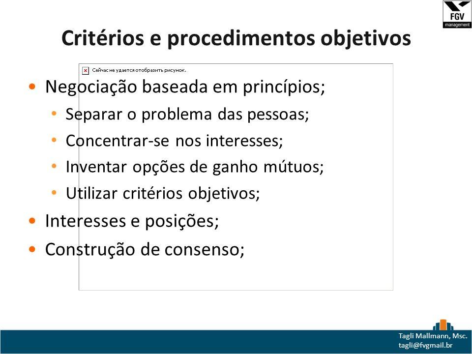 Critérios e procedimentos objetivos
