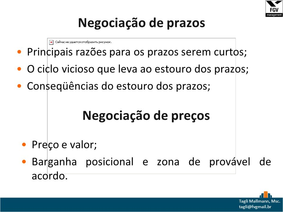 Negociação de prazos Negociação de preços