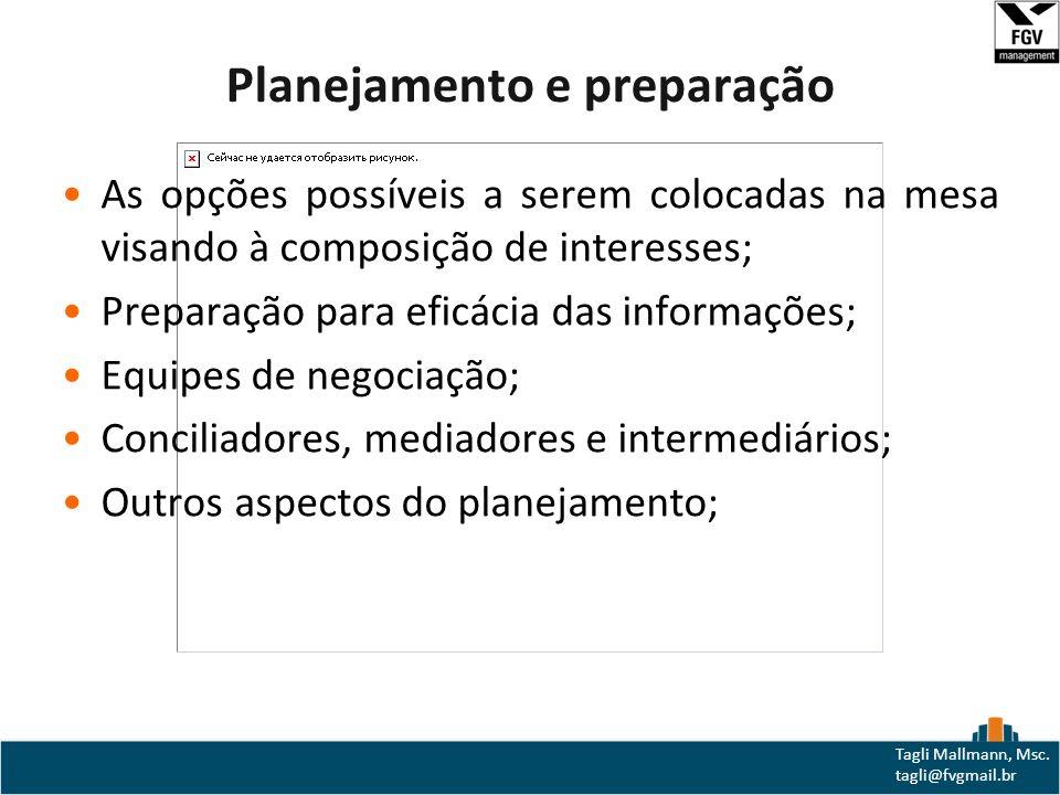 Planejamento e preparação
