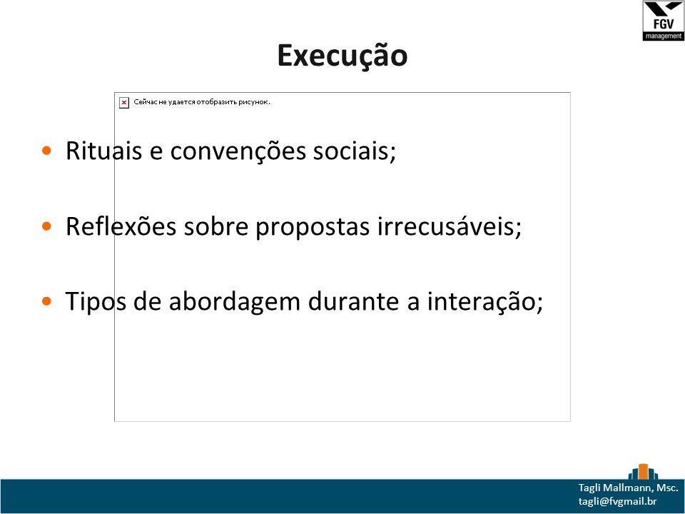 Execução Rituais e convenções sociais;