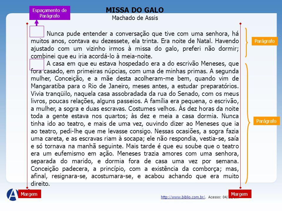 MISSA DO GALO Machado de Assis.