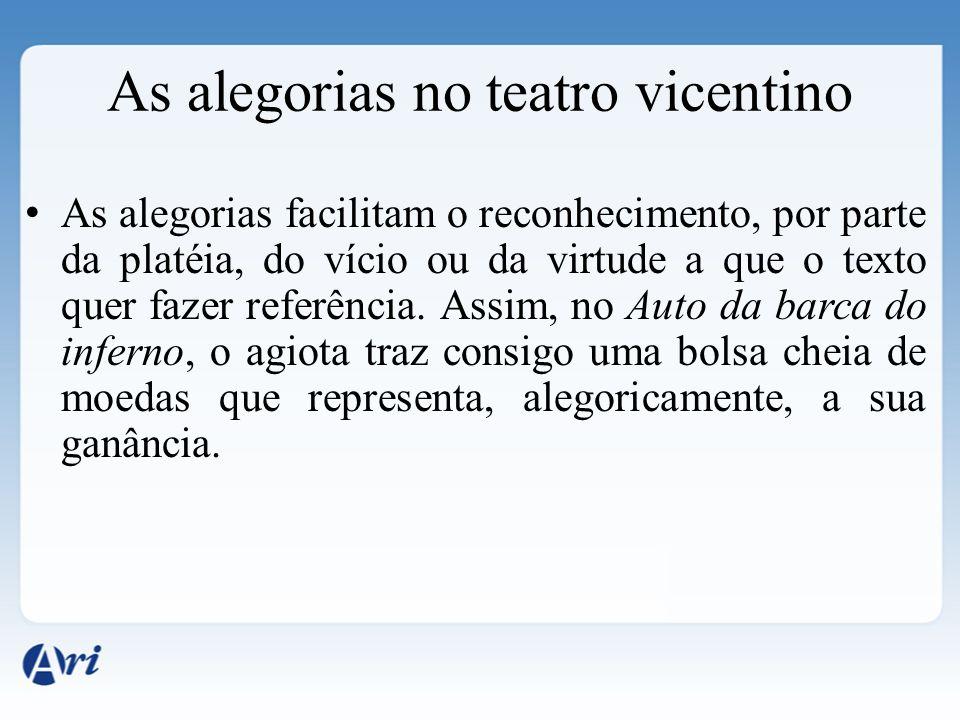 As alegorias no teatro vicentino
