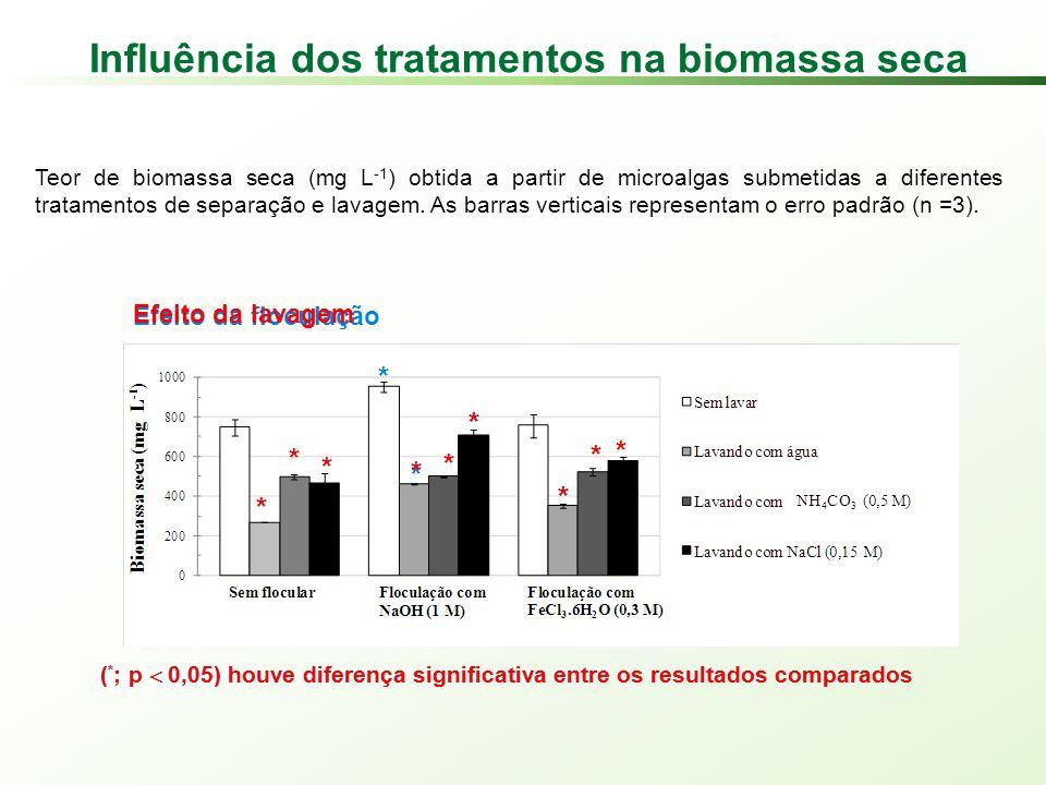 Influência dos tratamentos na biomassa seca