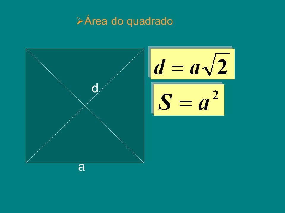 Área do quadrado d a