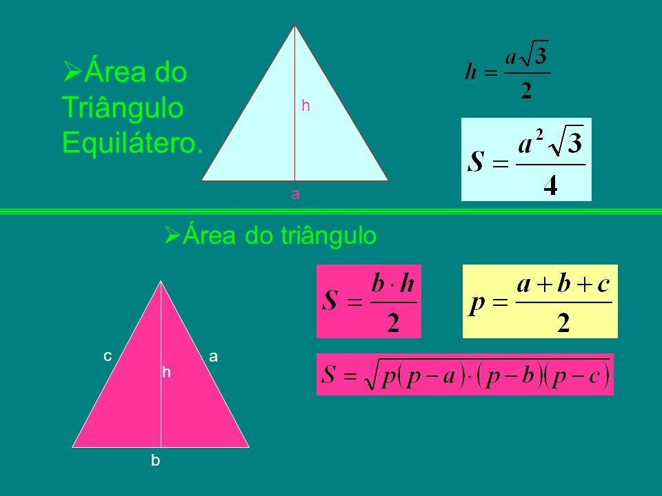 Área do Triângulo Equilátero.