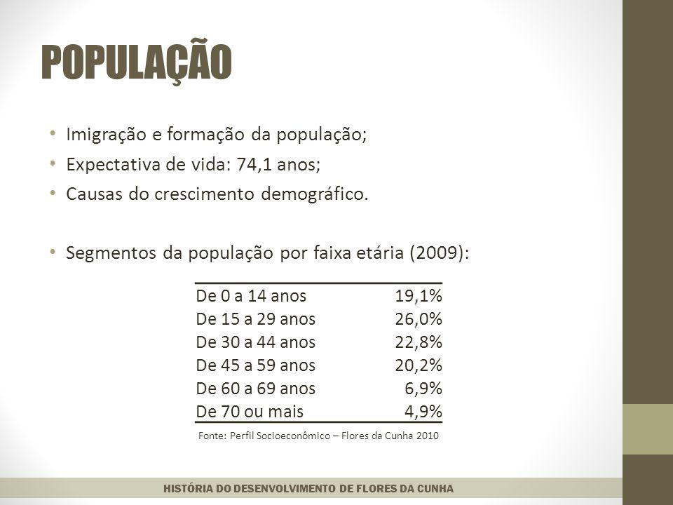 POPULAÇÃO Imigração e formação da população;