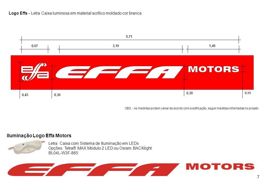 Iluminação Logo Effa Motors