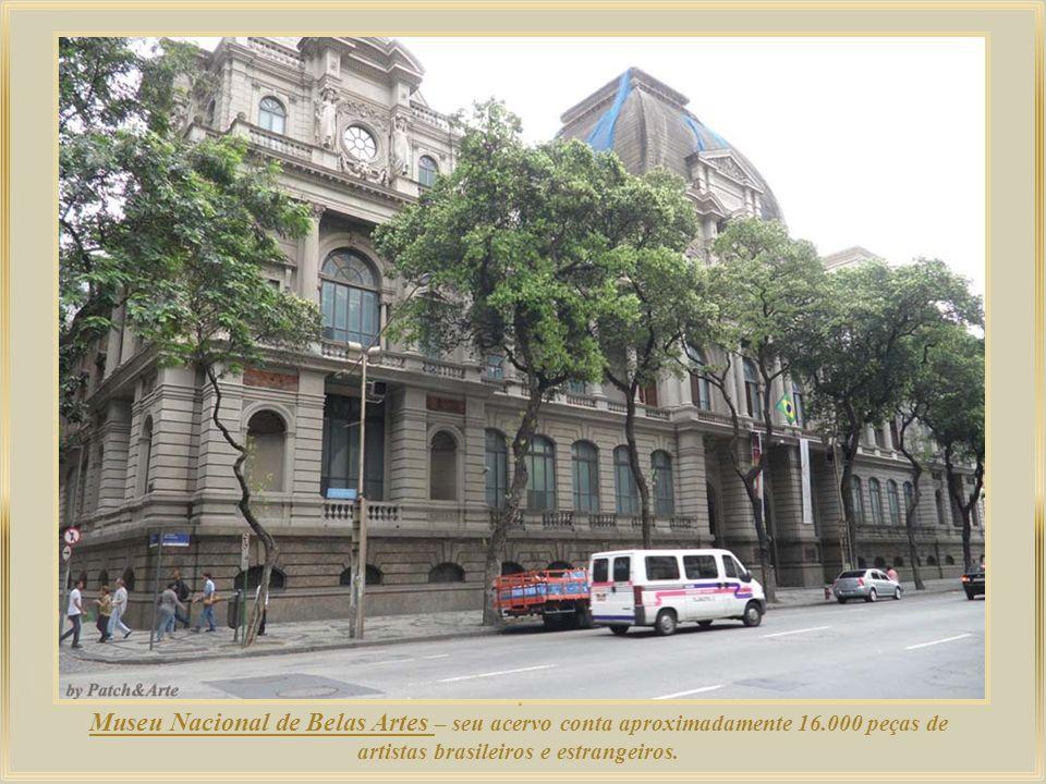 .Museu Nacional de Belas Artes – seu acervo conta aproximadamente 16.000 peças de artistas brasileiros e estrangeiros.