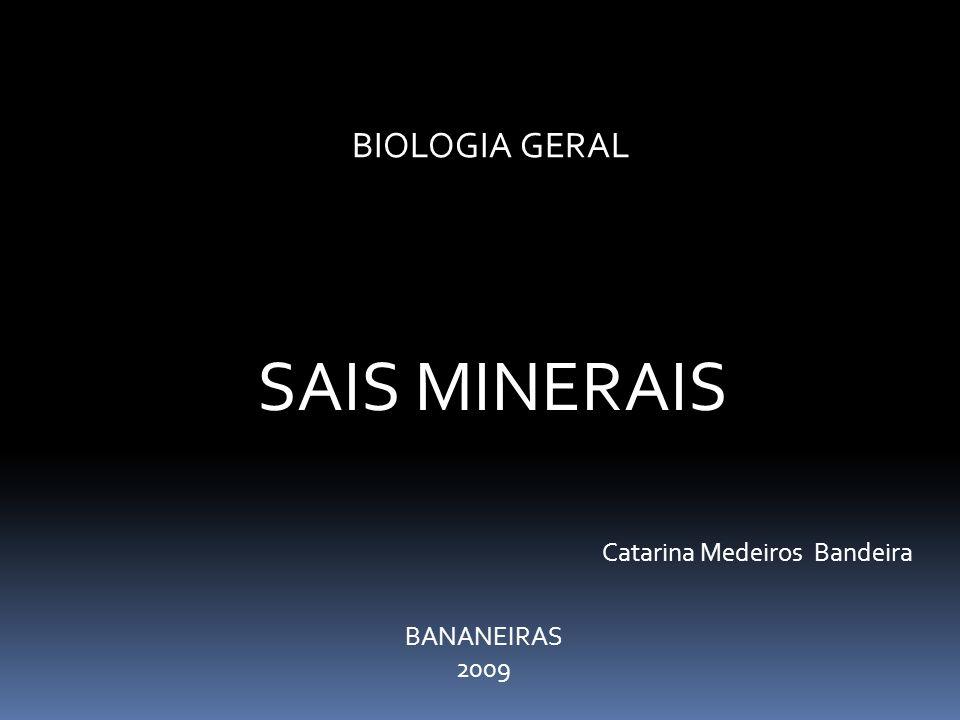 SAIS MINERAIS BIOLOGIA GERAL Catarina Medeiros Bandeira BANANEIRAS