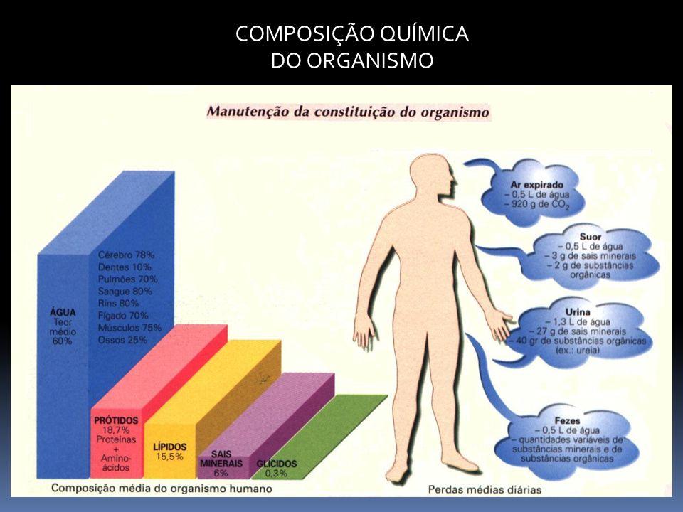 COMPOSIÇÃO QUÍMICA DO ORGANISMO