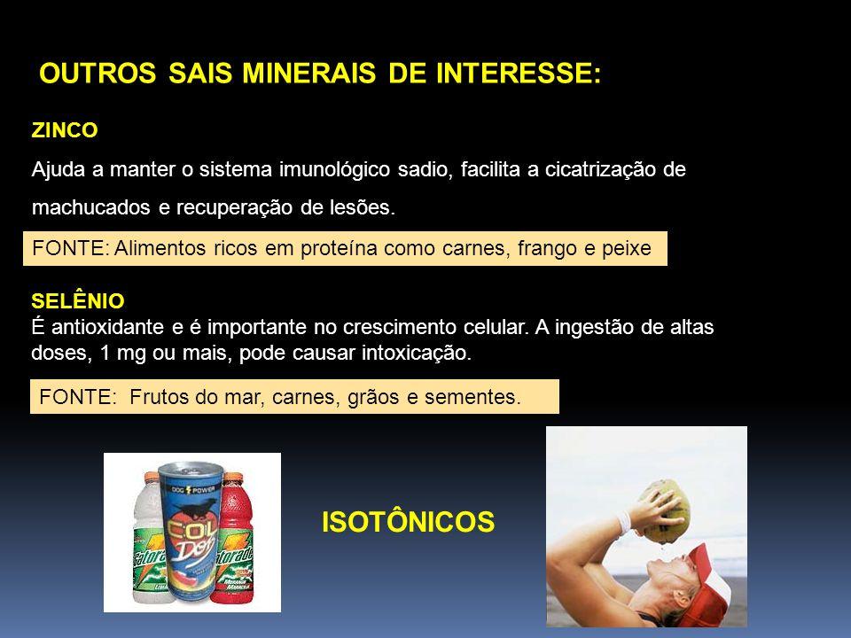 OUTROS SAIS MINERAIS DE INTERESSE: