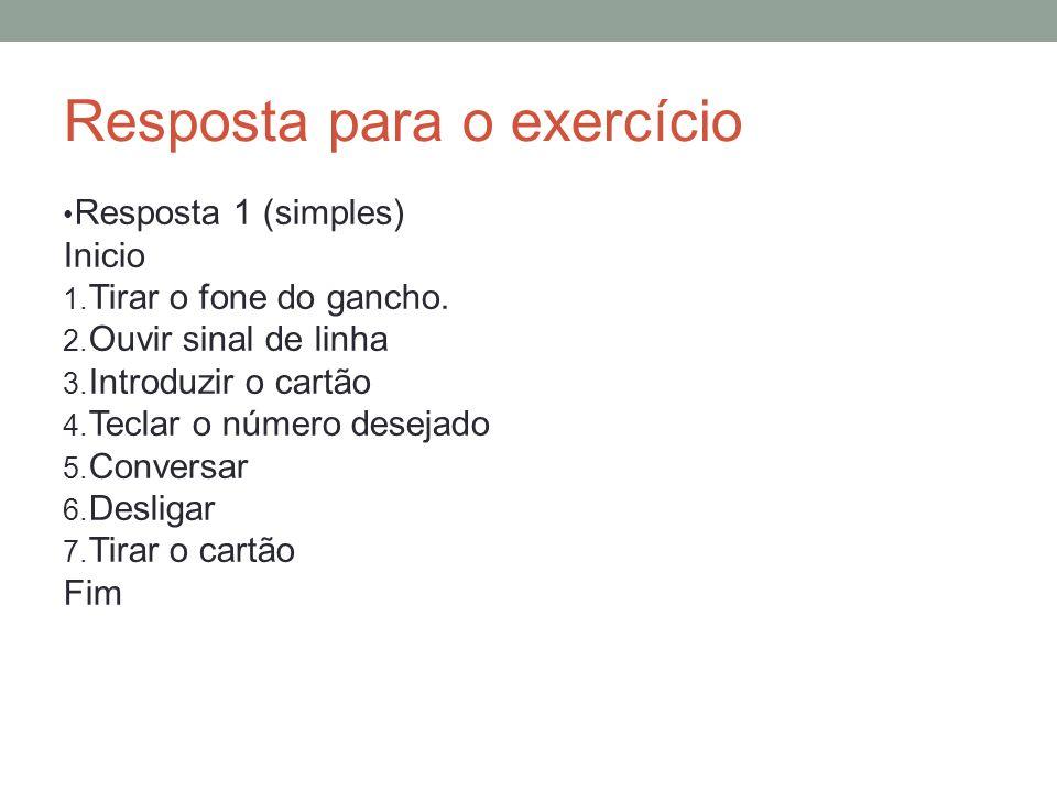 Resposta para o exercício