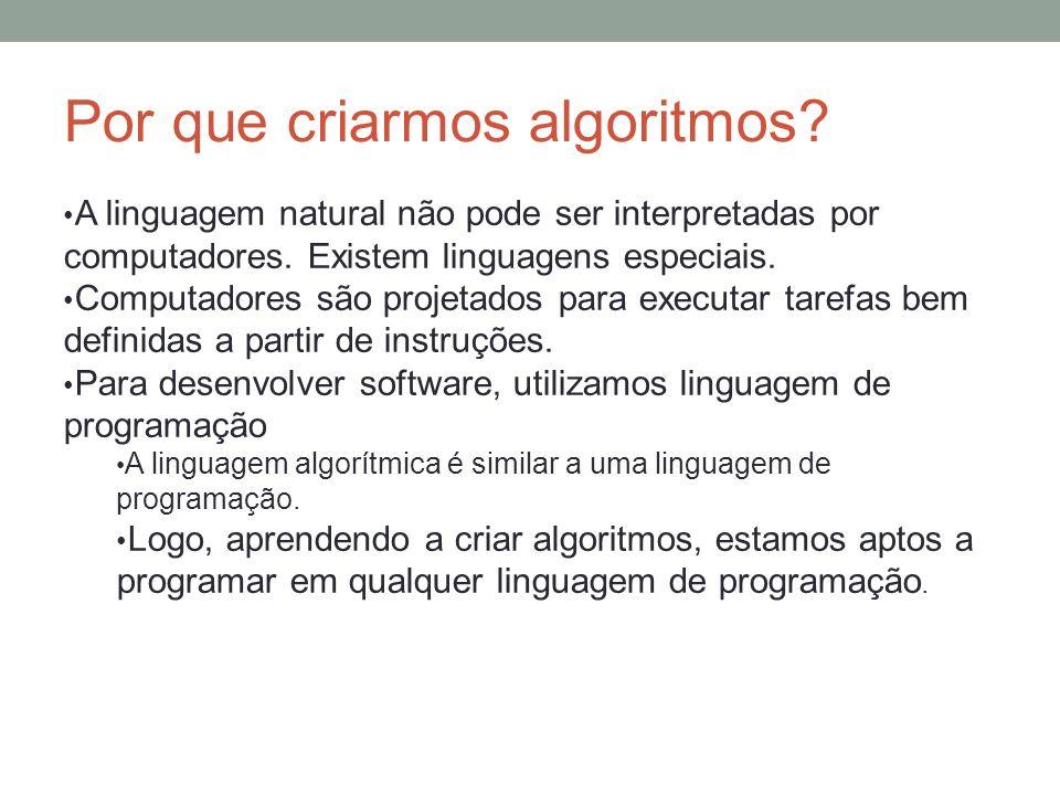 Por que criarmos algoritmos