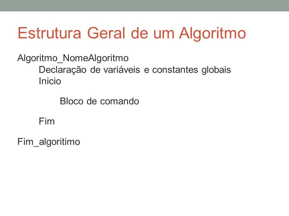 Estrutura Geral de um Algoritmo
