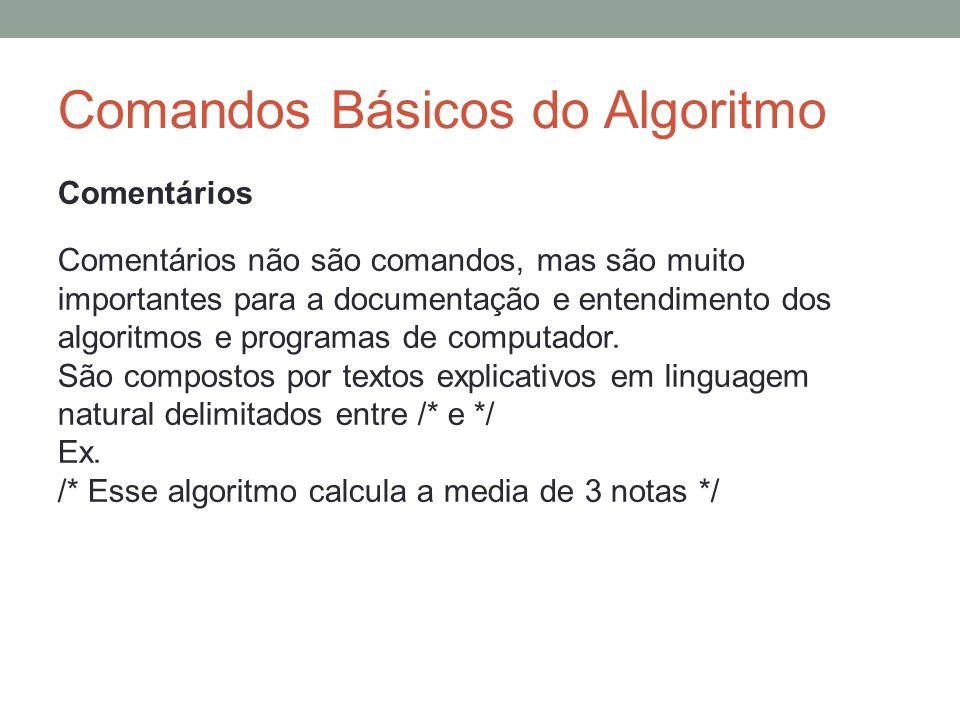 Comandos Básicos do Algoritmo