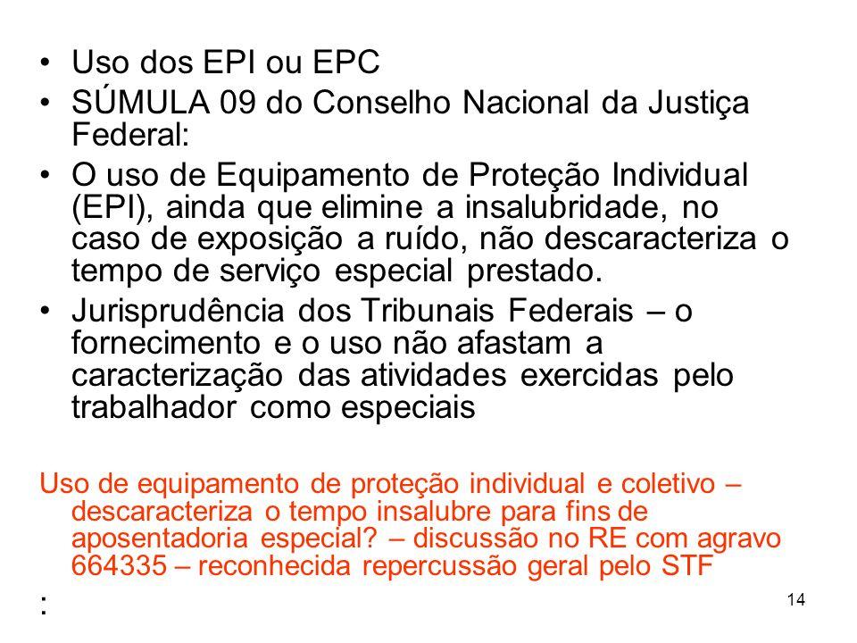 SÚMULA 09 do Conselho Nacional da Justiça Federal: