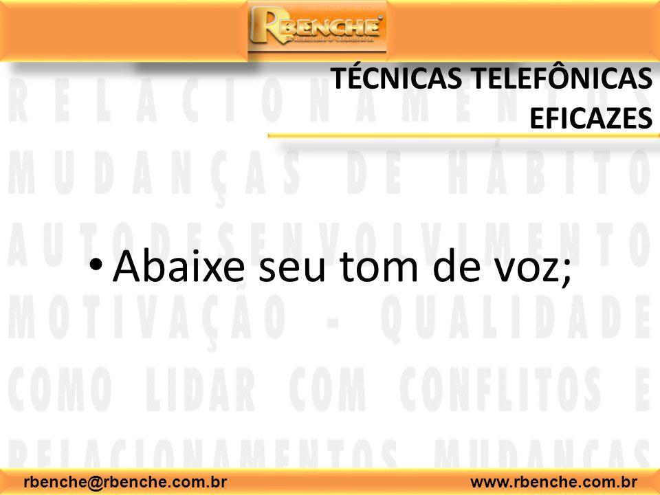 TÉCNICAS TELEFÔNICAS EFICAZES