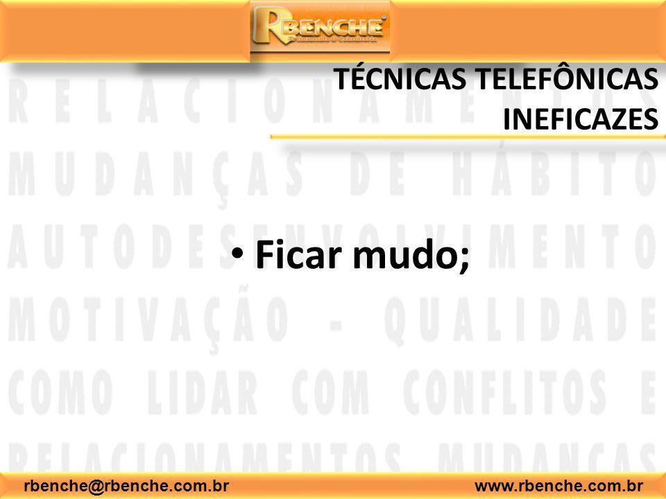 TÉCNICAS TELEFÔNICAS INEFICAZES