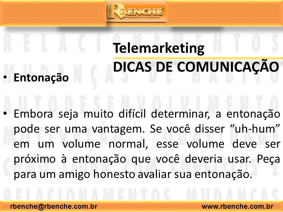 Telemarketing DICAS DE COMUNICAÇÃO