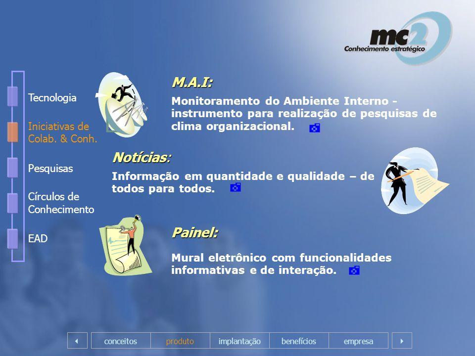 M.A.I: Notícias: Painel: