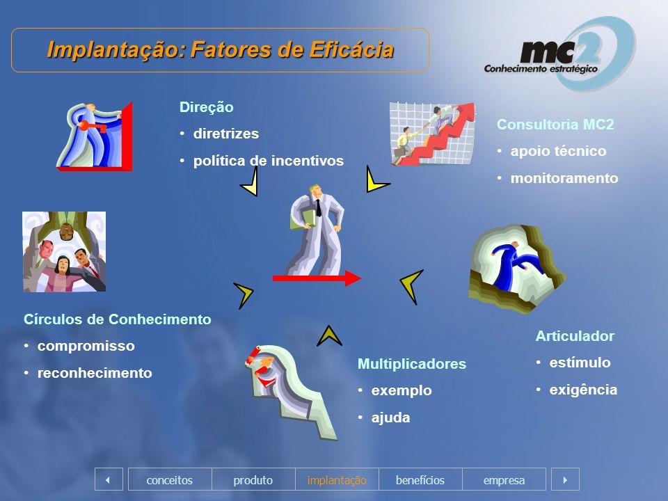 Implantação: Fatores de Eficácia